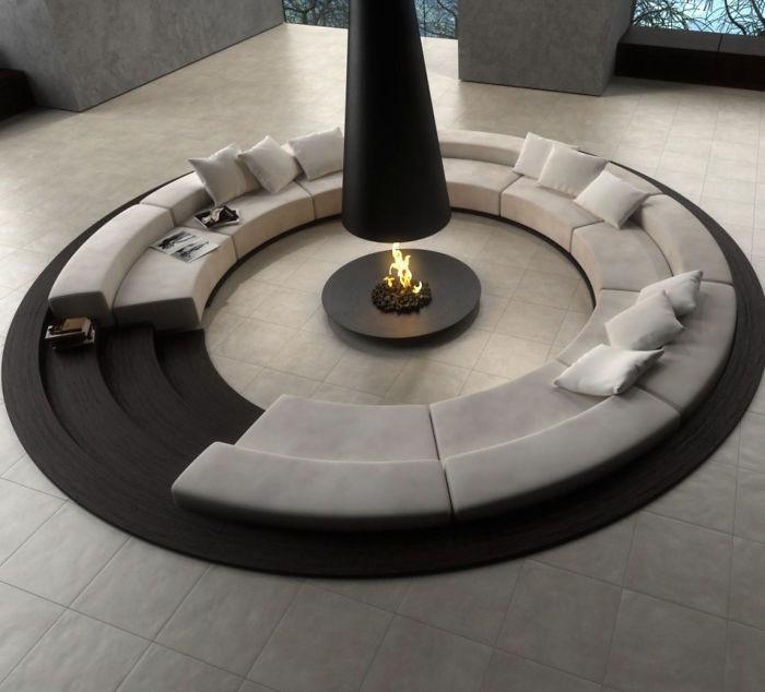 5. дизайн, камин