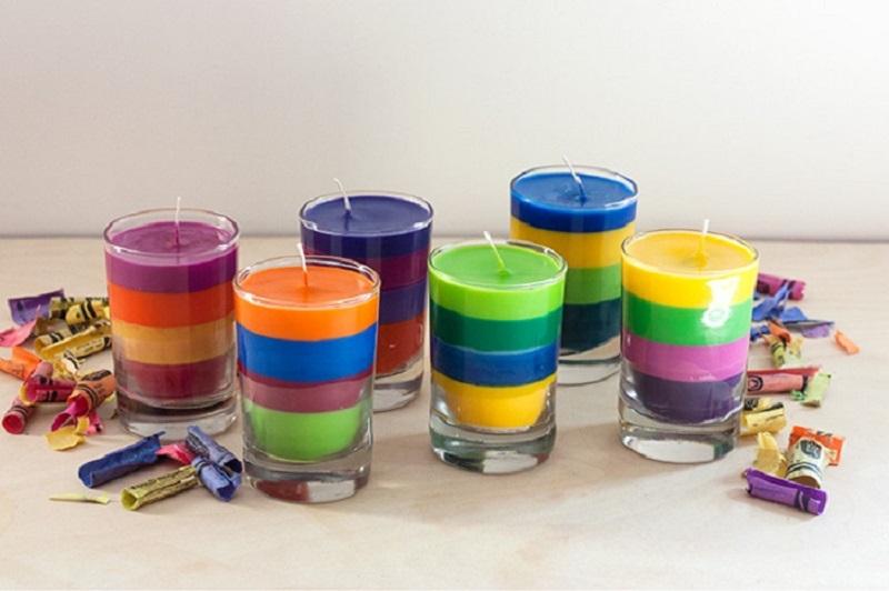 Цветные свечи своими руками в домашних условиях