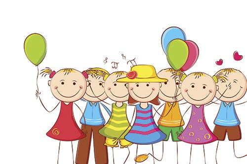Картинки по запросу счастливые дети нарисованные