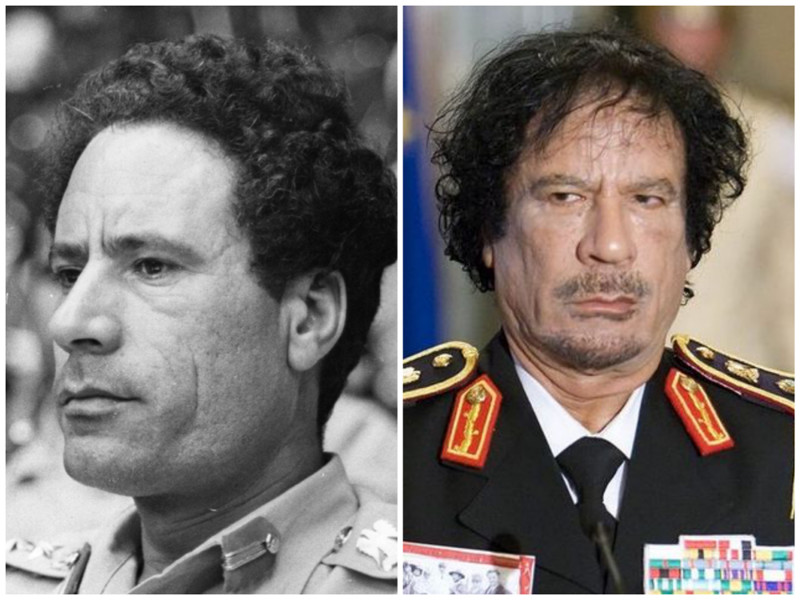 Муаммар Каддафи. Братский вождь и руководитель революции. Фото: 1979 - 2011 годы. лица, нервная работа, президенты