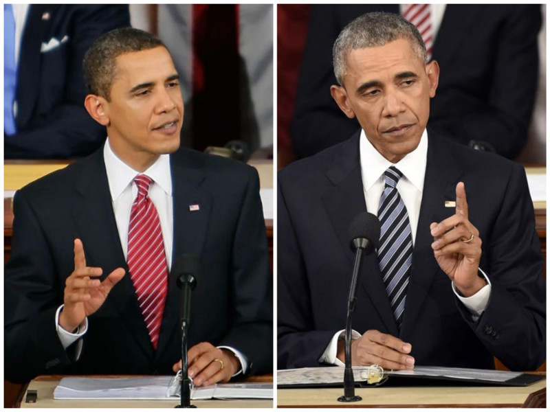 Барак Обама. Президент США. Фото: 2009 - 2016 годах. лица, нервная работа, президенты