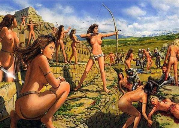 Амазонки или женщины-воительницы. Перейди в раздел Океаны, озёра и реки. Амазонки