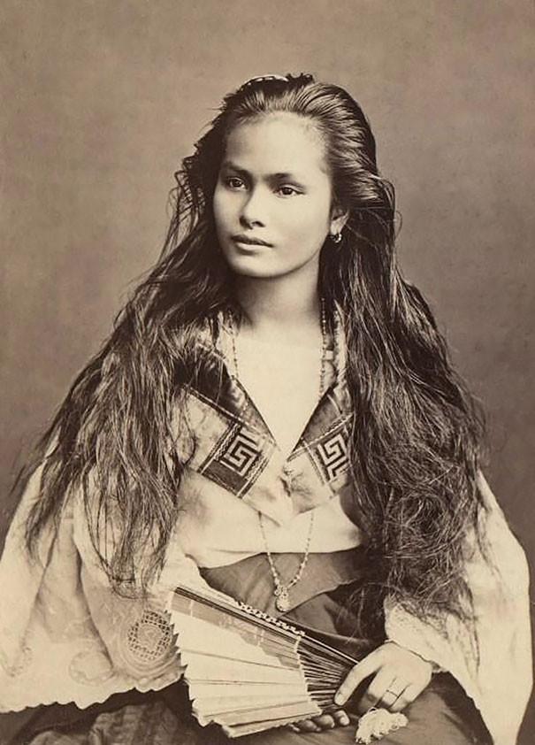 Женщина с острова Лусон, Филиппины винтаж, женщины, красота, открытки, фото