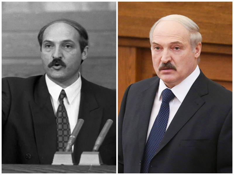 Александр Лукашенко. Президент Белоруссии. Фото: 1994 - 2016 годы. лица, нервная работа, президенты