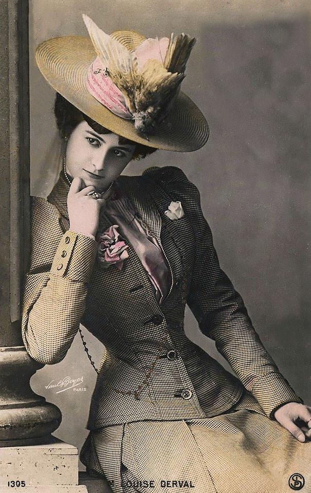 Луиза Дерваль винтаж, женщины, красота, открытки, фото