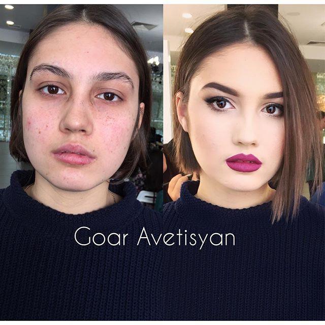 фото работы визажистов до и после