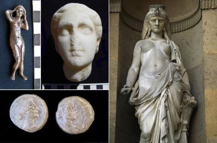 Сохранившиеся изображения Клеопатры (предположительно)