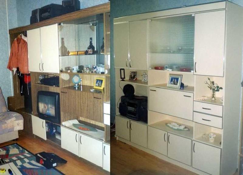 Как обновить мебельную стенку своими руками фото