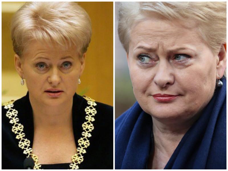 Даля Грибаускайте. Президент Литвы. Фото: 2009 - 2016 годы. лица, нервная работа, президенты