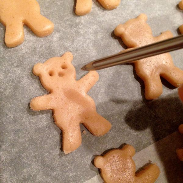приготовление печенье в форме мишек