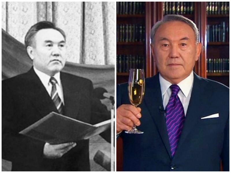 Нурсултан Назарбаев. Президент Казахстана. Фото: 1991 - 2016 годы. лица, нервная работа, президенты