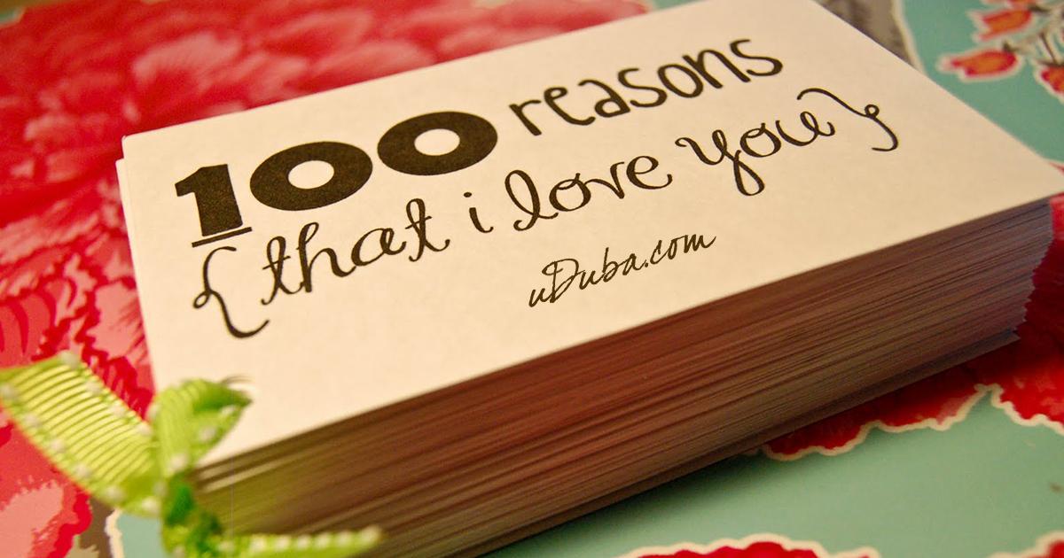 100 причин по которым я люблю наши отношения: