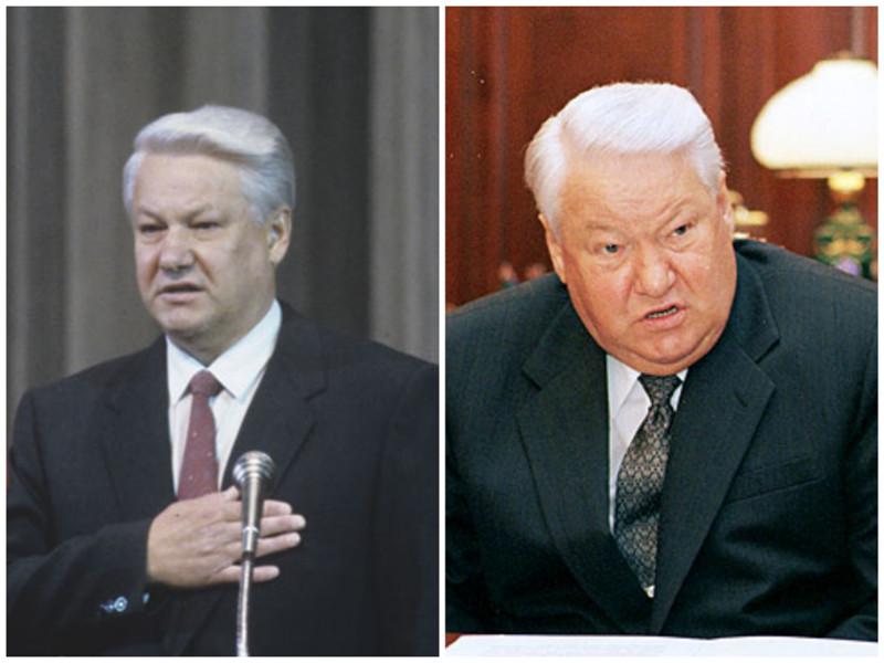 Борис Ельцин. Бывший президент России. Фото: 1991 - 1999 годы. лица, нервная работа, президенты