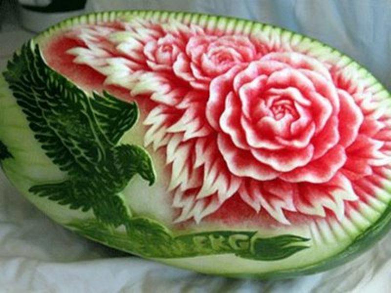 Карвинг - искусство резьбы по фруктам и овощам