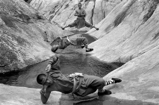 Тренировки монахов. Шаолинь. 1970-е.