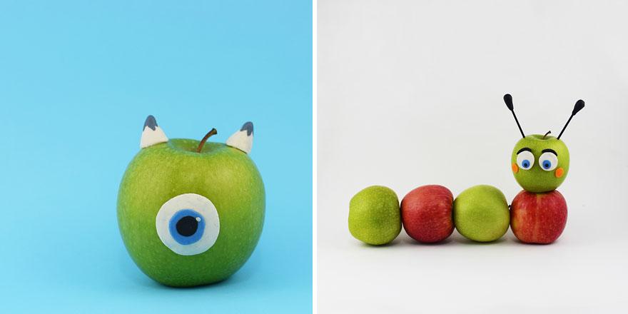 Фигурки из фруктов мастер класс
