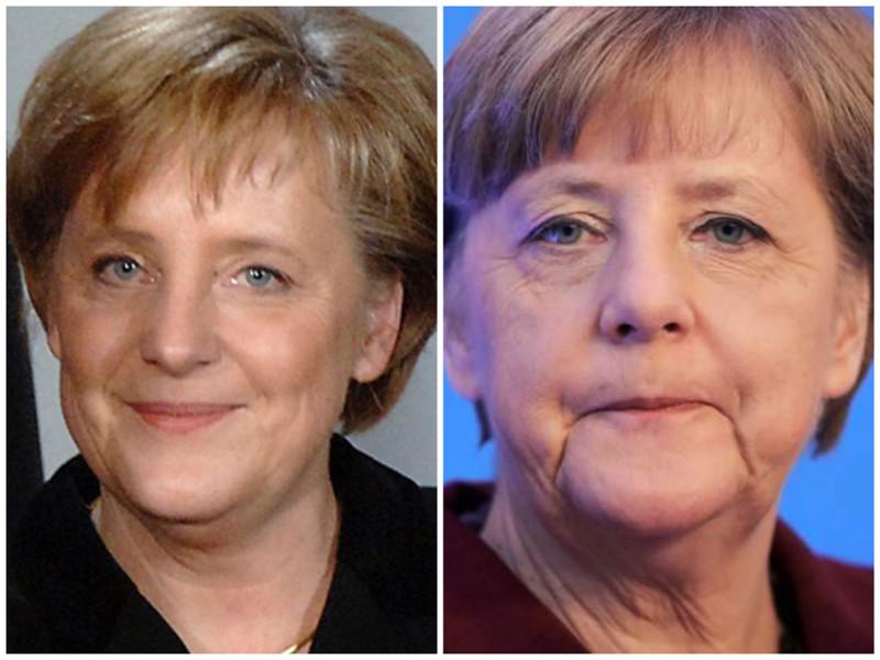 Ангела Меркель. Федеральный канцлер Германии. Фото: 2005 - 2016 годы. лица, нервная работа, президенты