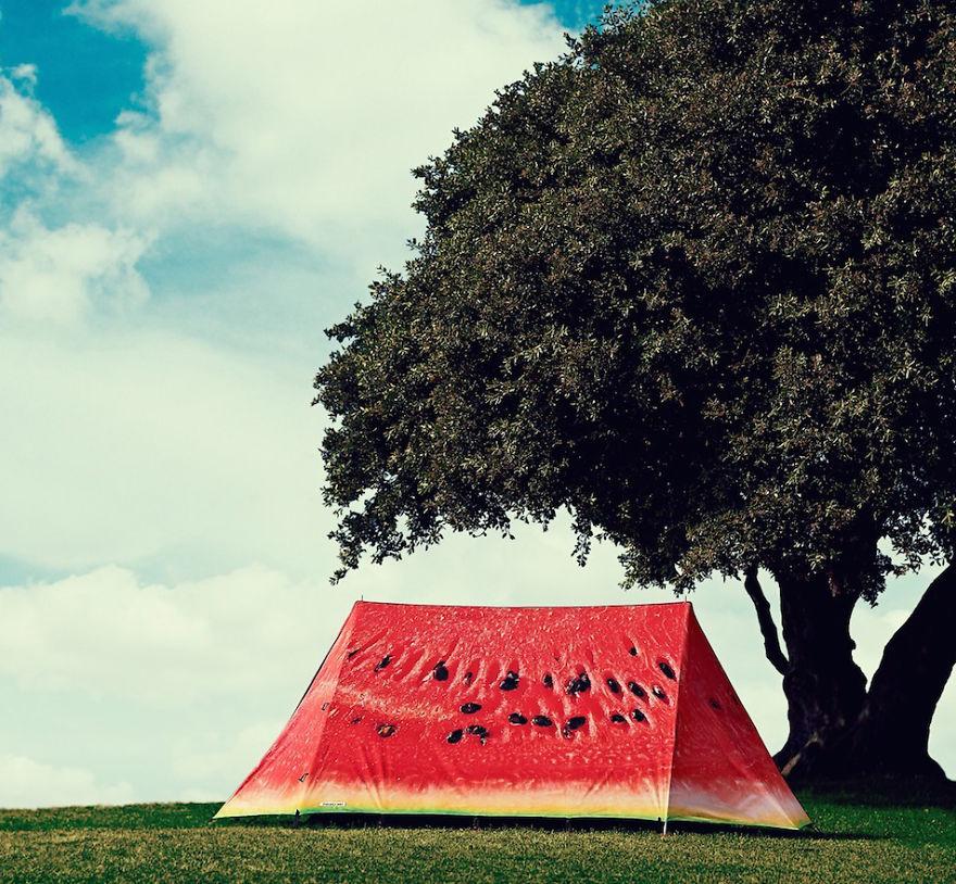 Палатка-арбуз