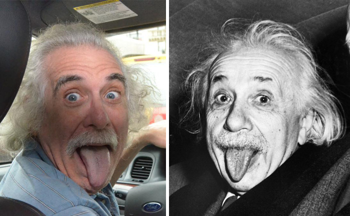 6. Это таксист из Нью-Йорка выглядит как Альберт Эйнштейн вещи, люди, похожие лица, схожесть