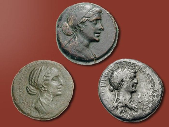 Изображения Клеопатры на монетах
