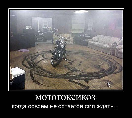 Не дай бог такого соседа:) мотосезон, мотоцикл, прикол, скоро