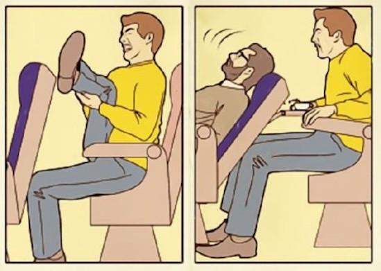 16. В машине или самолете вы только и думаете о том, куда бы спрятать ноги высокие люди, прикол, проблемы, юмор