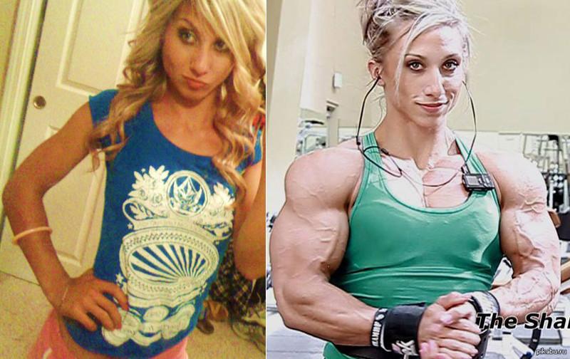 """Другие примеры """"прекрасных"""" трансформаций бодибилдерши, мужеподобные женщины, спортсменки, стероиды"""