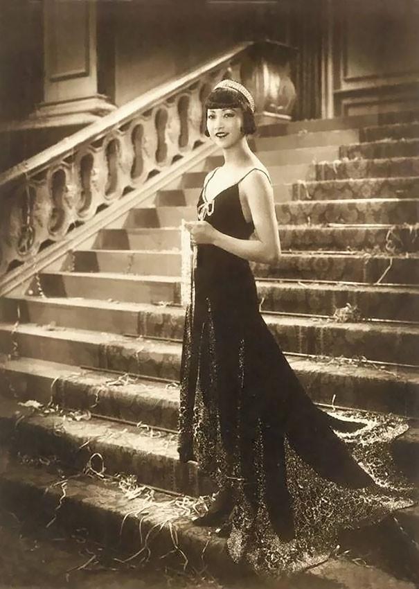Анна Мэй Вонг, первая американская актриса китайского происхождения винтаж, женщины, красота, открытки, фото